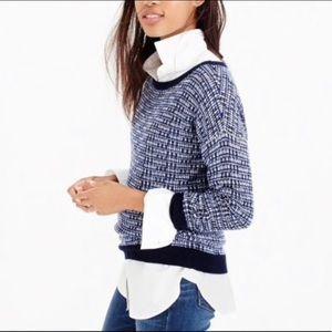 NWT J Crew Blue Wool Blend Sweater Small